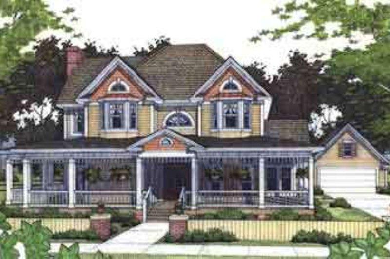 Farmhouse Exterior - Front Elevation Plan #120-104 - Houseplans.com