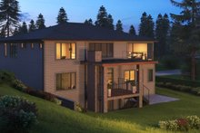 Architectural House Design - Contemporary Exterior - Rear Elevation Plan #1066-56
