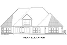 House Plan Design - European Exterior - Rear Elevation Plan #17-2477
