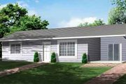 Ranch Style House Plan - 2 Beds 1 Baths 792 Sq/Ft Plan #1-466 Exterior - Front Elevation