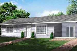 Ranch Exterior - Front Elevation Plan #1-466