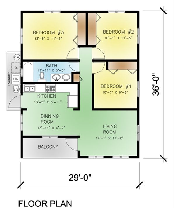 Modern Floor Plan - Main Floor Plan Plan #495-3