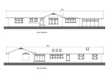 Ranch Exterior - Front Elevation Plan #481-7