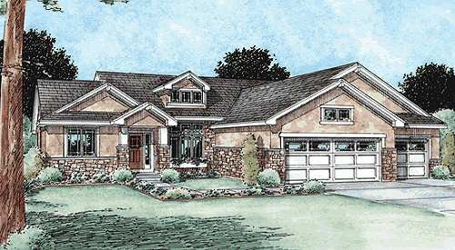 Traditional Exterior - Front Elevation Plan #20-1761 - Houseplans.com