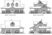 Country Style House Plan - 3 Beds 2 Baths 1715 Sq/Ft Plan #47-385 Exterior - Rear Elevation
