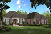 European Style House Plan - 3 Beds 2 Baths 1750 Sq/Ft Plan #430-42 Exterior - Front Elevation