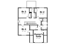Traditional Floor Plan - Upper Floor Plan Plan #20-2346