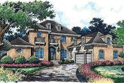European Style House Plan - 5 Beds 5.5 Baths 6538 Sq/Ft Plan #135-148 Exterior - Front Elevation