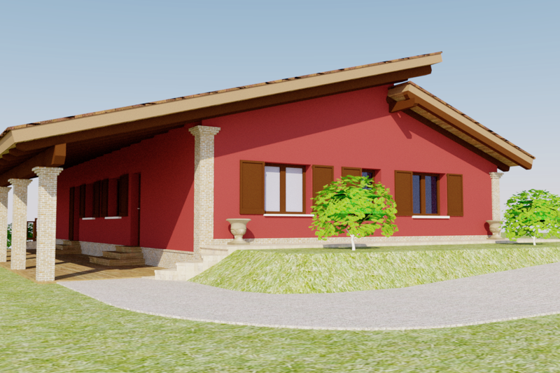 Contemporary Style House Plan - 3 Beds 2 Baths 5464 Sq/Ft Plan #542-12 Exterior - Front Elevation