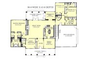 Southern Style House Plan - 4 Beds 3.5 Baths 2668 Sq/Ft Plan #44-118 Floor Plan - Main Floor Plan
