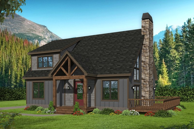 Architectural House Design - Country Exterior - Front Elevation Plan #932-54