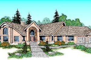 House Design - Mediterranean Exterior - Front Elevation Plan #60-507