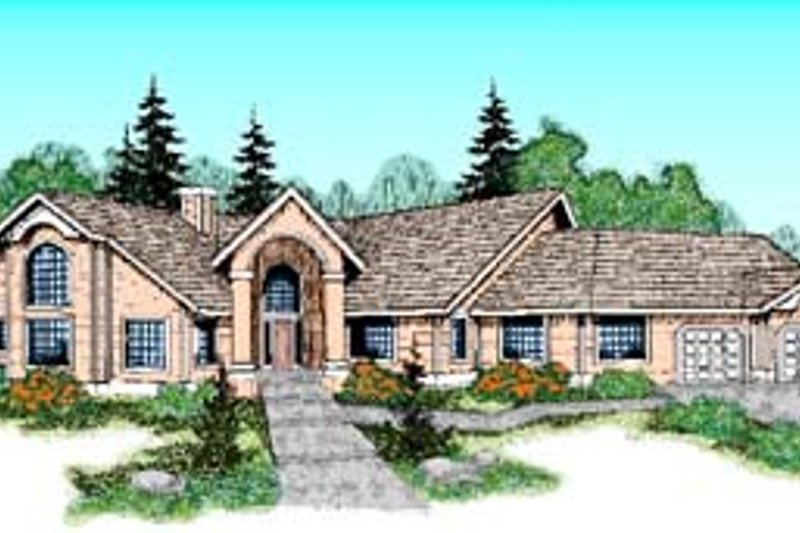 Dream House Plan - Mediterranean Exterior - Front Elevation Plan #60-507