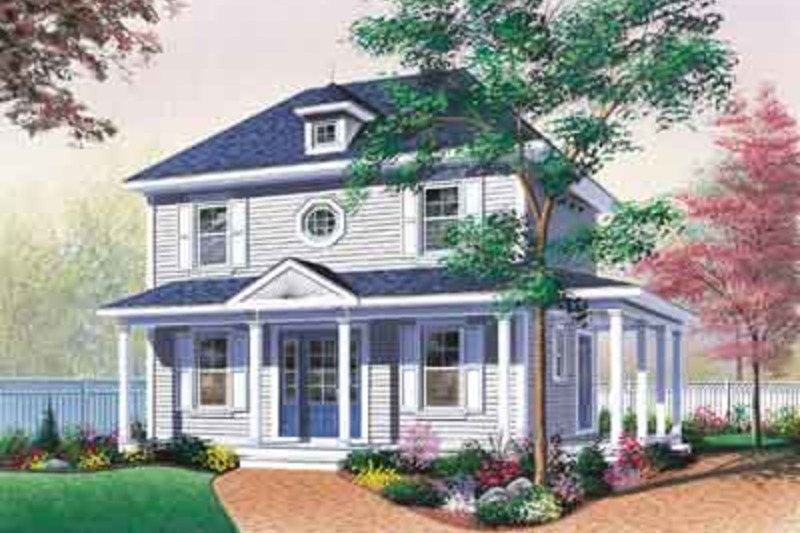 Traditional Exterior - Front Elevation Plan #23-503 - Houseplans.com