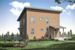 Home Plan Design - Contemporary Exterior - Front Elevation Plan #124-1169