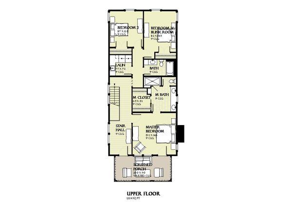 Beach Floor Plan - Upper Floor Plan Plan #901-126