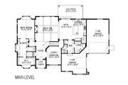 European Style House Plan - 7 Beds 4.5 Baths 5464 Sq/Ft Plan #920-30 Floor Plan - Main Floor Plan