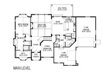 European Floor Plan - Main Floor Plan Plan #920-30