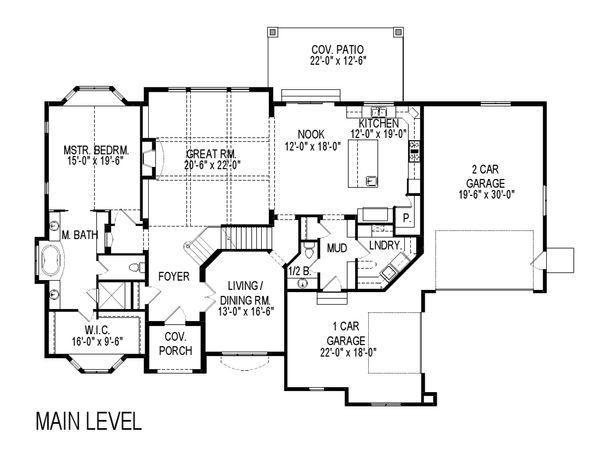 Home Plan - European Floor Plan - Main Floor Plan #920-30
