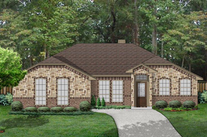 Traditional Exterior - Front Elevation Plan #84-546 - Houseplans.com