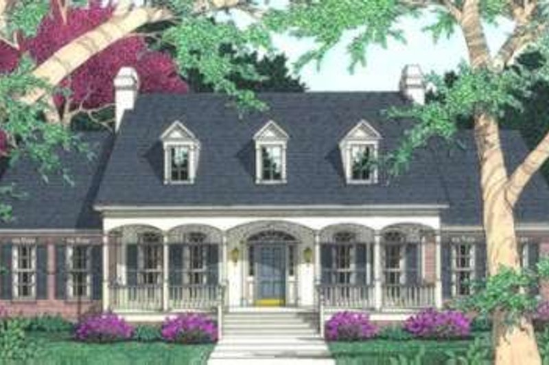 Traditional Exterior - Front Elevation Plan #406-169 - Houseplans.com