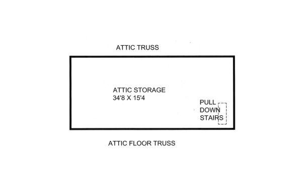 House Plan Design - Unfinished Attic
