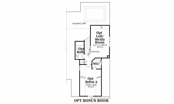 Ranch Floor Plan - Other Floor Plan Plan #419-119
