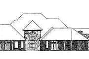 European Style House Plan - 5 Beds 6 Baths 5310 Sq/Ft Plan #310-348 Exterior - Rear Elevation