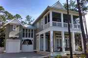 Beach Style House Plan - 5 Beds 5.5 Baths 3480 Sq/Ft Plan #443-15 Exterior - Outdoor Living