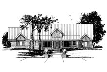 Country Exterior - Front Elevation Plan #942-57
