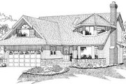 European Style House Plan - 3 Beds 3 Baths 2215 Sq/Ft Plan #47-577 Exterior - Front Elevation