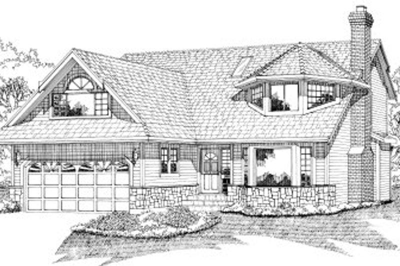 European Style House Plan - 3 Beds 3 Baths 2215 Sq/Ft Plan #47-577