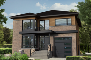 Contemporary Exterior - Front Elevation Plan #25-4913