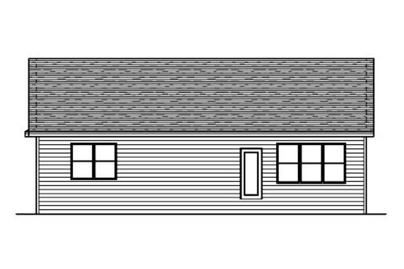Traditional Exterior - Rear Elevation Plan #51-372 - Houseplans.com