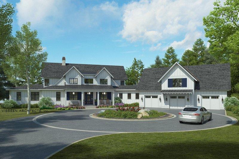 Home Plan - Farmhouse Exterior - Front Elevation Plan #928-341