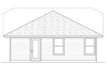 Craftsman Exterior - Rear Elevation Plan #84-445