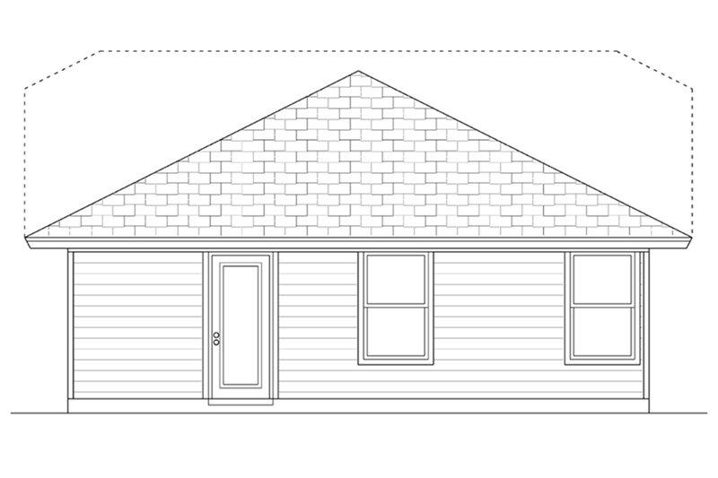 Craftsman Exterior - Rear Elevation Plan #84-445 - Houseplans.com