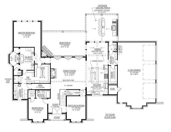 Architectural House Design - Modern Floor Plan - Main Floor Plan #1074-41
