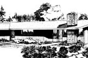 Modern Exterior - Front Elevation Plan #303-261