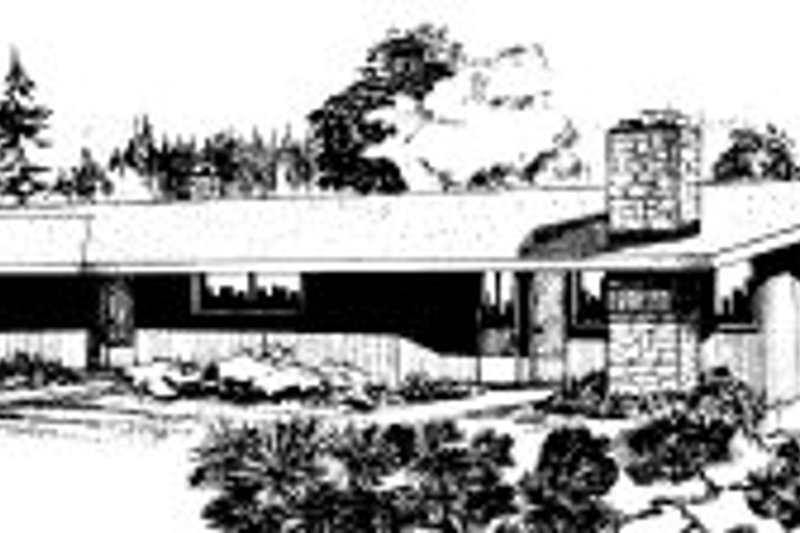 Modern Style House Plan - 2 Beds 2 Baths 4134 Sq/Ft Plan #303-261