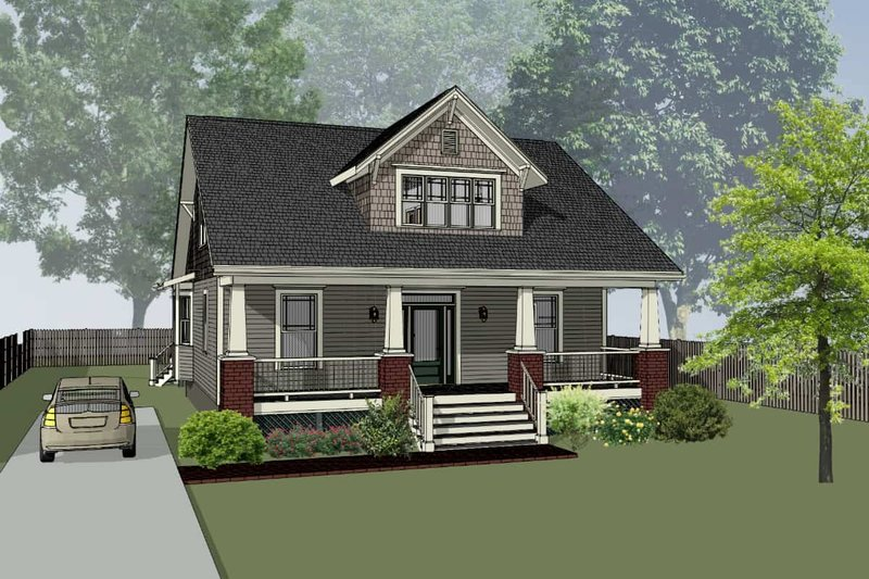 Dream House Plan - Craftsman Exterior - Front Elevation Plan #79-280