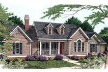 Southern Exterior - Front Elevation Plan #406-202