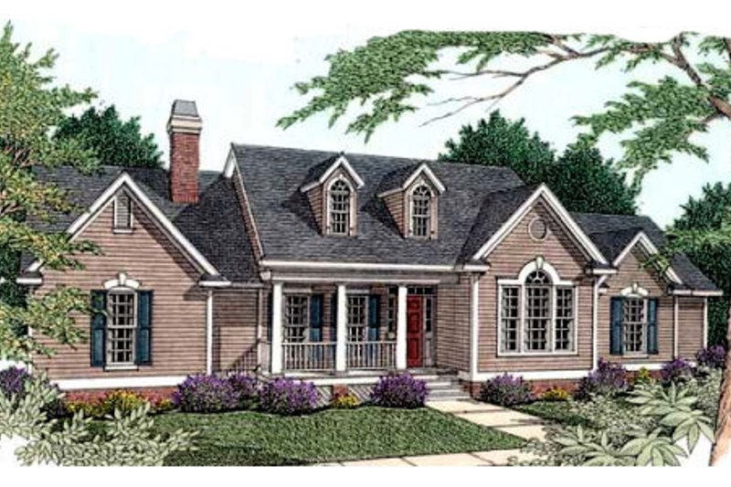 Southern Exterior - Front Elevation Plan #406-202 - Houseplans.com