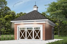 Colonial Exterior - Front Elevation Plan #23-425