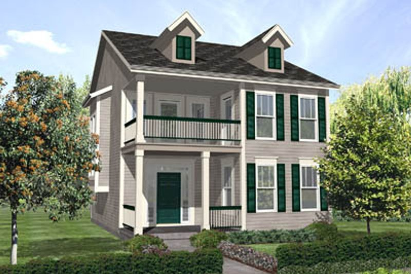 Southern Style House Plan - 3 Beds 2.5 Baths 2097 Sq/Ft Plan #50-134 Exterior - Front Elevation