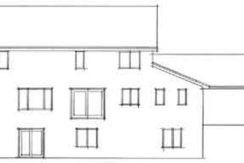 Country Exterior - Rear Elevation Plan #51-218 - Houseplans.com