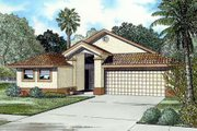 Mediterranean Style House Plan - 4 Beds 2.5 Baths 1769 Sq/Ft Plan #420-114 Exterior - Front Elevation