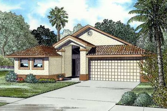 Mediterranean Exterior - Front Elevation Plan #420-114