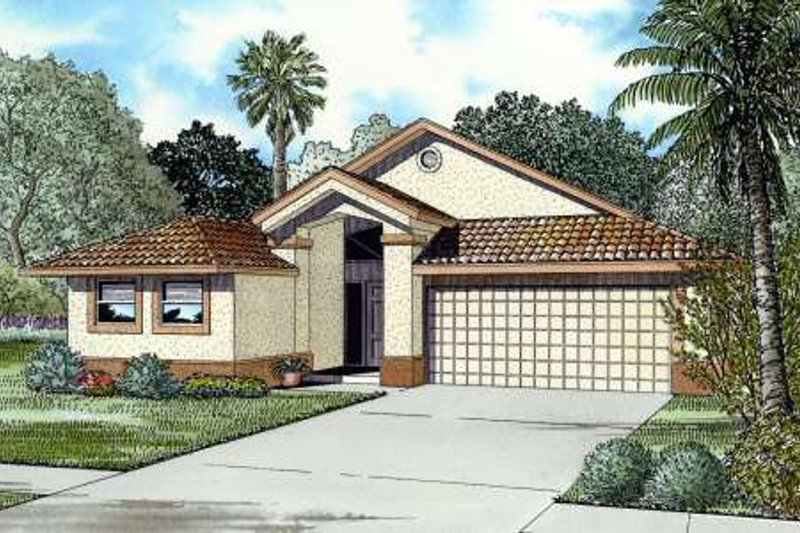 Mediterranean Style House Plan - 4 Beds 2.5 Baths 1769 Sq/Ft Plan #420-114