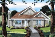 Cottage Style House Plan - 3 Beds 2 Baths 1573 Sq/Ft Plan #312-736 Exterior - Front Elevation